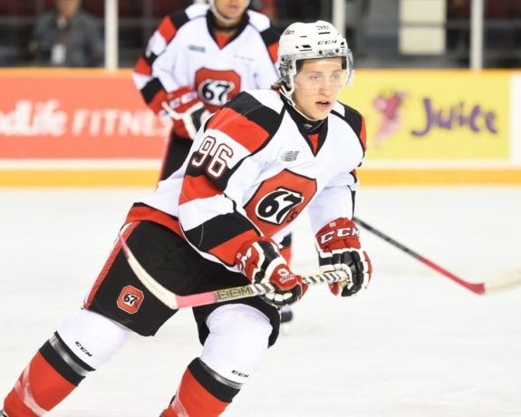 Dante Salituro of the Ottawa 67s [photo: OHL Images]