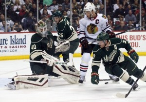 Devan Dubnyk and the Minnesota Wild take on the Chicago Blackhawks. (Marilyn Indahl-USA TODAY Sports)