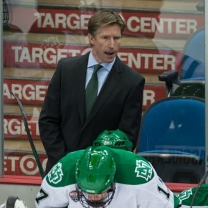 Former UND head coach Dave Hakstol (Peter Bottini, UND Athletics)