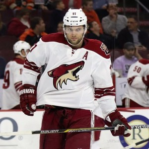 Arizona Coyotes forward Martin Hanzal