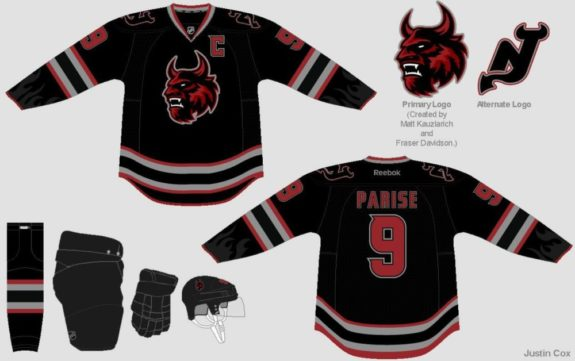 New Jersey Devils Jersey Concept (Justin Cox/Art of Hockey)