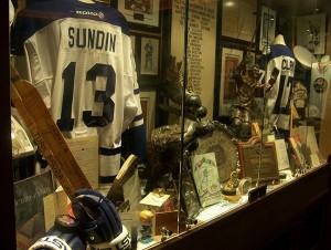 A  look at one of the many displays at Mike Wilson's Leaf museum.