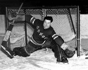 Bill Beveridge while with the New York Rangers in 1943.