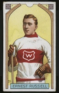 Ernest Russell's 1911-12 Imperial Tobacco card.