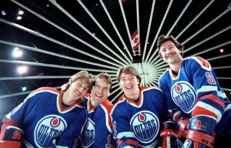 Wayne Gretzky, Mark Messier, Jari Kurri, Glenn Anderson