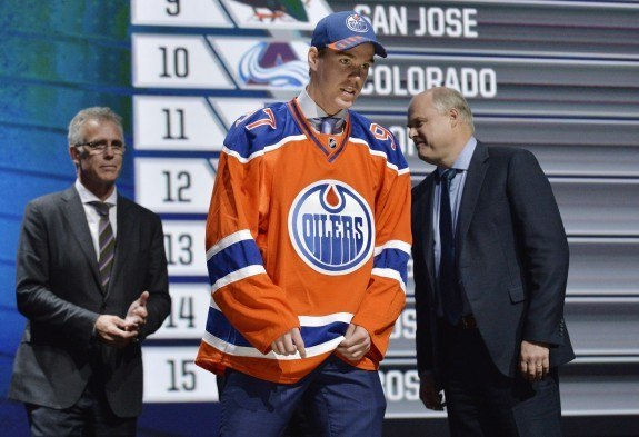 (Steve Mitchell-USA TODAY Sports) Unlike in years past, the first two picks were slam dunks for everybody's mock draft as it was well known in advance that the Edmonton Oilers would use the first overall selection on Connor McDavid, above, and that the Buffalo Sabres would follow with Jack Eichel at second overall.