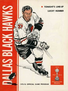 Dallas Black Hawks program 1975-76