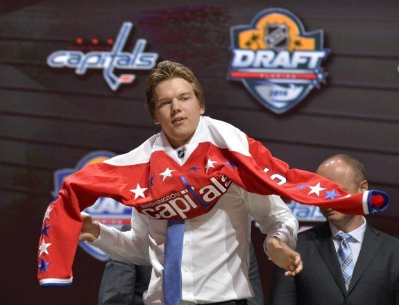 Ilya Samsonov on Draft day 2015 (Steve Mitchell-USA TODAY Sports)