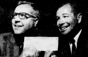 North Stars owners Walter Bush and Gordon Ritz with their $2 Million cheque.