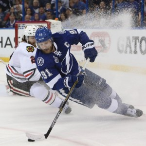 Lightning captain Steven Stamkos is rumored to be heading to the Detroit Red Wings (Kim Klement-USA TODAY Sports)