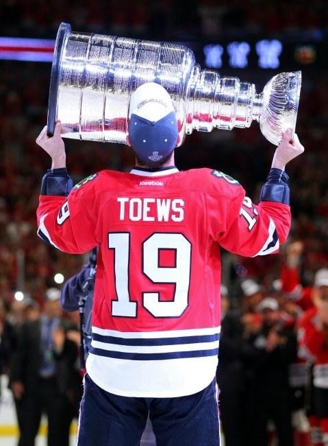 Jonathan Toews, 3x Stanley Cup winner as a captain. (Dennis Wierzbicki-USA TODAY Sports)