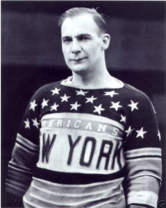 Lionel Conacher, early in his illustrious career, with the New York Americans.