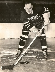 Morenz, with the Blackhawks.
