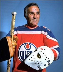 Jacques Plante, during his final season with Edmonton Oilers in the WHA.
