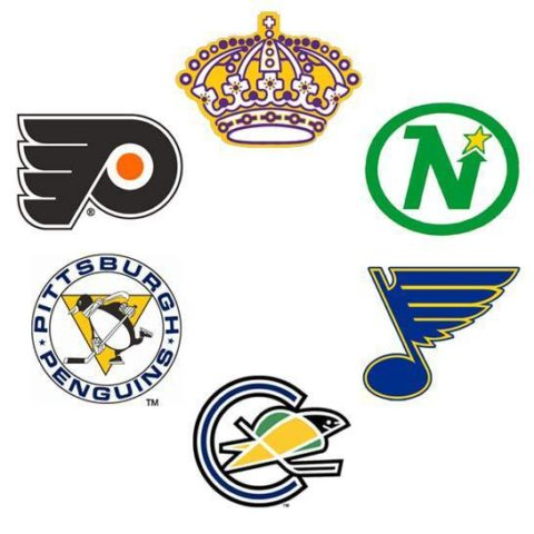 Next Six, Logos, Kings, North Stars, Blues, Seals, Penguins, Flyers