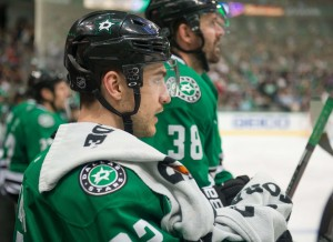 Colton Sceviour will start the season with the Stars, but will need to improve on his play in the preseason.(Jerome Miron-USA TODAY Sports)