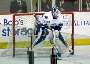 """Jacob Markstrom Utica Comets"" by Leech44 - Own work. Licensed under CC BY 3.0 via Wikimedia Commons"