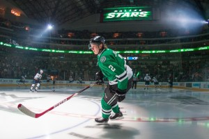 Stars defenseman Jyrki Jokipakka scored his first NHL goal in a 5-3 win over Boston on November 3. (Jerome Miron-USA TODAY Sports)