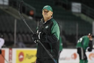 Lindy Ruff at Dallas Stars training camp in Cedar Park, September 2015.(Credit: Michael Connell/Texas Stars Hockey)