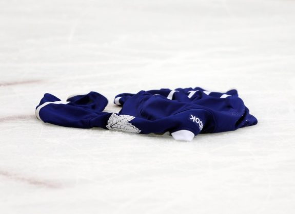Toronto Maple Leafs jersey on the ice