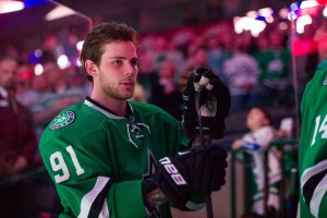 With the addition of Patrick Sharp and the return of Val Nichushkin, Tyler Seguin should continue to score at a high pace in Dallas' quest for a return trip to the postseason. (Jerome Miron-USA TODAY Sports)