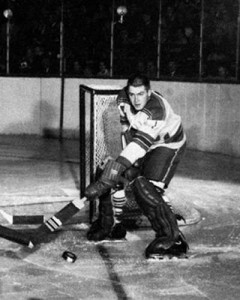 Dave Dryden, seen here in his lone NHL game with Rangers in 1962.