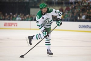 UND forward Luke Johnson (Peter Bottini / UND Athletics)