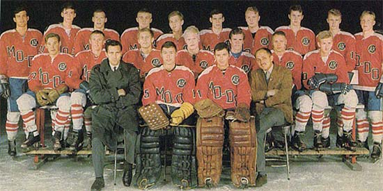 Team picture of MODO AIK from 1964, the first year after their rebranding from AIK to MODO AIK.