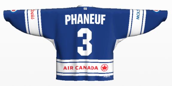 phaneuf back 3rd jersey logos on