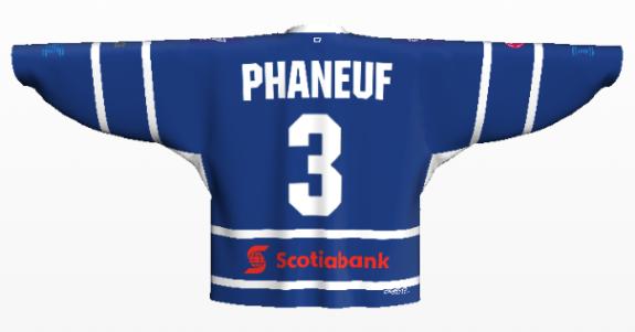 phaneuf back home logos on
