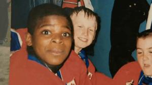 A young P.K. Subban alongside Steven Stamkos. (hockeyplayersaskids.tumblr.com)