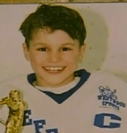 Zach Parise wore the 'C' long before he wore the 'A' for the Minnesota Wild. (hockeyplayersaskids.tumblr.com)