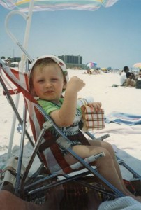 Two-year-old Steven Stamkos while on vacation in Florida. (hockeyplayersaskids.tumblr.com)