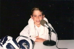 Tyler Seguin of the Dallas Stars when he was young. (hockeyplayersaskids.tumblr.com)