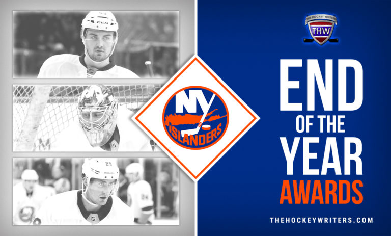 End of the Year Islander Awards Brock Nelson, Semyon Varlamov and Adam Pelech