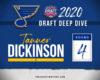 Blues' 2020 Draft Deep Dive: Tanner Dickinson