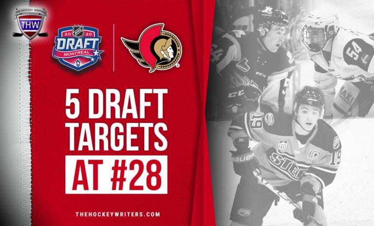 5 Ottawa Senators Draft targets for 28th overall Brendan brisson, Jeremie Poirier, and Helge Grans