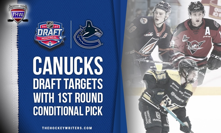 Vancouver Canucks Draft Targets With 1st Round Conditional Pick Connor Zary, Emil Andrae and Dawson Mercer