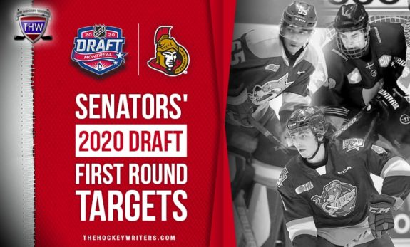 Ottawa Senators' 2020 Draft First Round Targets' Byfield, Holtz, and Drysdale