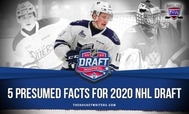 5 Presumed Facts for 2020 NHL Draft