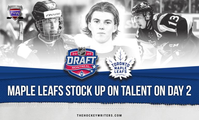 Toronto Maple Leafs Stock up on Talent on Day 2 of 2020 Draft Roni Hirvonen, Topi Niemela and William Villeneuve
