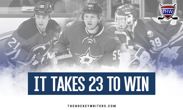 It Takes 23 To Win Scott Gomez and Dominik Hasek and Sergei Gonchar