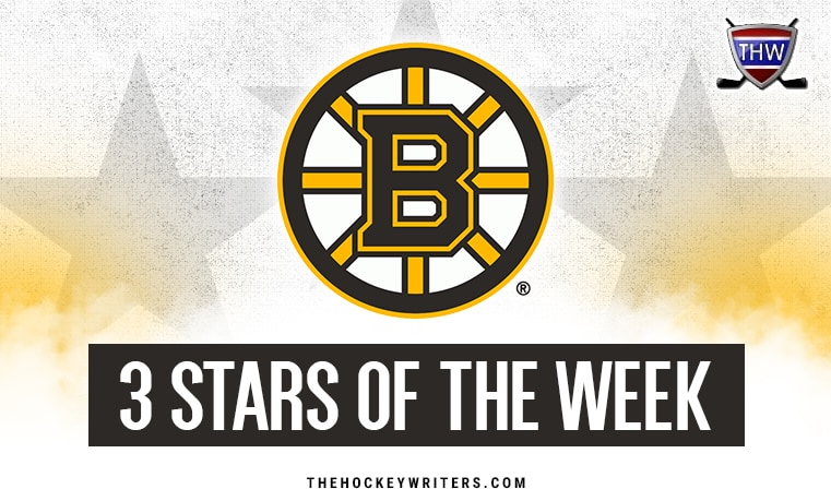 3 stars of the week Boston Bruins