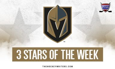 Vegas Golden Knights' 3 Stars of the Week: Nov. 1 - 7