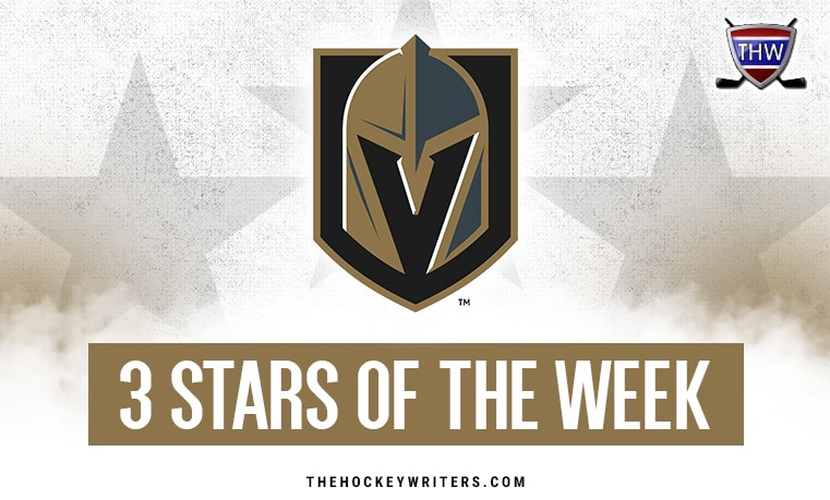 3 Stars of the Week Vegas Golden Knights