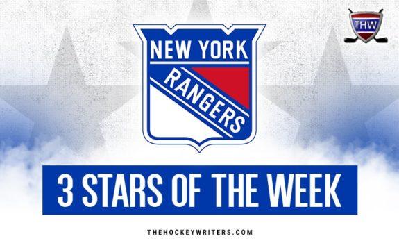 New York Rangers 3 stars of the week