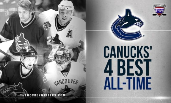 Vancouver Canucks' 4 Best All-Time Mattias Ohlund, Roberto Luongo, Pavel Bure, and Henrik Sedin
