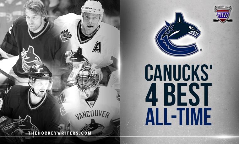 Vancouver Canucks' 4 Best All-Time Mattias Ohlund, Roberto Luongo, Pavel Bure, and Henrik Sedin