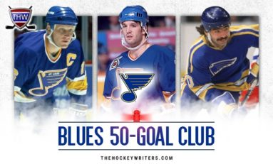 St. Louis Blues' 50-Goal Scorers