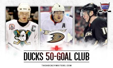 Anaheim Ducks' 50-Goal Scorers